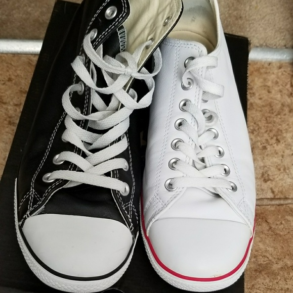 6a285fc85555 Converse Other - Converse Bundle leather All⭐Chuck Taylors 2 pair!